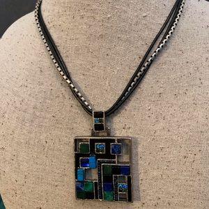 Chico's Enamel Pendant Necklace